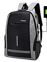 Недорогие -Муж. Молнии рюкзак Большая вместимость Полиэстер Контрастных цветов Черный / Серый