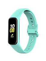 Недорогие -Ремешок для часов для Galaxy Fit E R375 Samsung Galaxy Спортивный ремешок силиконовый Повязка на запястье