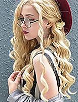 Недорогие -Синтетические кружевные передние парики Волнистый Стиль Средняя часть Лента спереди Парик Блондинка Блондинка Искусственные волосы 18-26 дюймовый Жен. Регулируется Жаропрочная Для вечеринок Блондинка