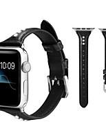 Недорогие -Роскошный ремешок с бриллиантами и стразами для яблочных часов 44мм / 42мм / 40мм / 38мм из натуральной кожи ремешок для часов серии iwatch 1 2 3 4