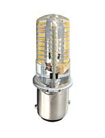 Недорогие -1шт 3 W LED лампы типа Корн 170-200 lm BA15D 72 Светодиодные бусины SMD 3014 Новый дизайн Декоративная Милый Тёплый белый Холодный белый 12-24 V
