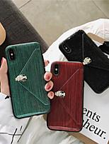 Недорогие -чехол для яблока iphone xs / iphone xr / iphone xs max / 7 8 plus / 6splus / 6s кошелек / держатель карты / с подставкой задняя крышка блеск блеск тпу