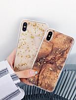 Недорогие -чехол для яблока iphone xs / iphone xr / iphone xs max ударопрочный / imd / выкройка задней крышки блеск блеск / мраморный тпу для iphone6 / 6s plus iphone7 / 8 plus iphonex / xs max / xr