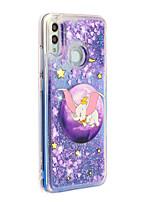 Недорогие -Кейс для Назначение Huawei / Xiaomi Huawei P20 lite / Huawei P30 / Huawei P30 Pro Движущаяся жидкость / С узором / Сияние и блеск Кейс на заднюю панель Животное / Сияние и блеск ТПУ