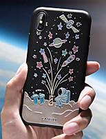 Недорогие -Кейс для Назначение Apple iPhone XS / iPhone XR / iPhone XS Max Ультратонкий / С узором Кейс на заднюю панель Мультипликация ТПУ