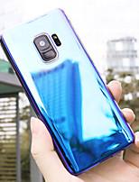 Недорогие -чехол для samsung galaxy s9 plus / s9 пылезащитный / ультратонкий / матовый задняя крышка цветовой градиент / непромокаемый / против падения / креативный модный чехол для телефона