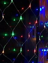 Недорогие -1,5 м * 1,5 м Гирлянды 120 светодиоды Разные цвета Декоративная 220-240 V 1 комплект