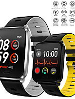 cheap -Smartwatch Digital Modern Style Sporty Silicone 30 m Water Resistant / Waterproof Heart Rate Monitor Bluetooth Digital Casual Outdoor - Black Black / Yellow Black / Gray