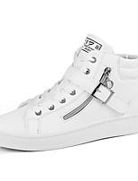 Недорогие -Муж. Комфортная обувь Полиуретан Весна лето / Наступила зима На каждый день Кеды Дышащий Черный / Белый / Легкие подошвы