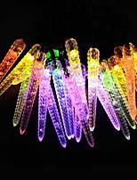 Недорогие -5 метров Гирлянды 20 светодиоды Разные цвета Работает от солнечной энергии / Декоративная Солнечная энергия 1 комплект