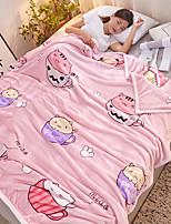 Недорогие -Диван Бросай / Многофункциональные одеяла, Полоски / Растения / Цветочный принт Фланель Флис / Полиэстер удобный Очень мягкий одеяла