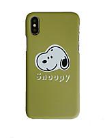 Недорогие -чехол для яблока iphone xs / iphone xr / iphone xs макс матовый / узор задняя крышка пк животных для iphone 6/7/8 / 6plus / 7plus / 8plus / x