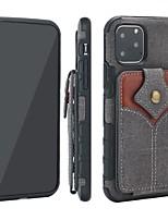 Недорогие -Кейс для Назначение Apple iPhone 11 / iPhone 11 Pro / iPhone 11 Pro Max Кошелек / Бумажник для карт Чехол Плитка холст