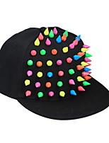 Недорогие -Муж. Классический Бейсболка Хлопок,Контрастных цветов Черный