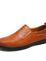 Недорогие -Муж. Комфортная обувь Наппа Leather Весна / Осень На каждый день Мокасины и Свитер Нескользкий Черный / Темно-русый / Темно-коричневый