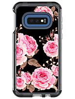 Недорогие -Кейс для Назначение SSamsung Galaxy Galaxy S10 Защита от удара Кейс на заднюю панель Прозрачный / Цветы / Мрамор ТПУ / ПК