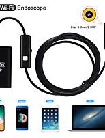 Недорогие -8 мм объектив камеры Wi-Fi эндоскопа водонепроницаемый ip67 осмотр бороскоп мягкий 1 м длина для android iphone pc
