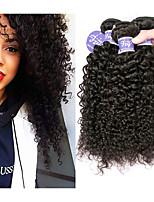 Недорогие -3 Связки Индийские волосы Естественные прямые человеческие волосы Remy Необработанные натуральные волосы Человека ткет Волосы Удлинитель Пучок волос 8-28 дюймовый Нейтральный Ткет человеческих волос