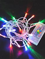 Недорогие -1,5 м Гирлянды 10 светодиоды Тёплый белый / RGB / Белый Творчество / Новый дизайн / Для вечеринок Аккумуляторы 10 шт.