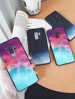 Недорогие -Кейс для Назначение SSamsung Galaxy S9 / S9 Plus / S8 Plus Зеркальная поверхность / Ультратонкий / С узором Кейс на заднюю панель Цвет неба / Пейзаж ТПУ