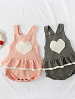 Недорогие -3 предмета малыш Девочки Активный / Уличный стиль Однотонный Открытая спина Без рукавов Bodysuit Розовый