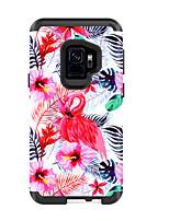 Недорогие -Кейс для Назначение SSamsung Galaxy S9 / S9 Plus Защита от удара Кейс на заднюю панель Животное / Цветы ПК