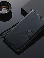Недорогие -Кейс для Назначение Huawei Huawei Honor 10 Бумажник для карт / Флип Чехол Однотонный ТПУ
