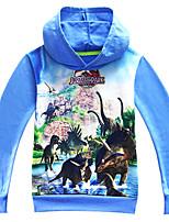 cheap -Kids Boys' Basic Street chic Dinosaur Animal Long Sleeve Hoodie & Sweatshirt Blue
