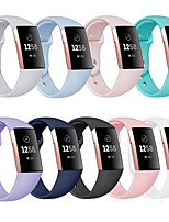 Недорогие -Ремешок для часов для Fitbit Charge 4 Fitbit Спортивный ремешок силиконовый Повязка на запястье