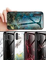 Недорогие -Кейс для Назначение SSamsung Galaxy Note 9 / Note 8 / Galaxy Note 10 Защита от удара / С узором Кейс на заднюю панель Мрамор ТПУ / Закаленное стекло