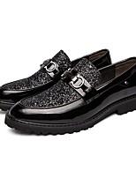 Недорогие -Муж. Комфортная обувь Искусственная кожа Лето Мокасины и Свитер Черный / Золотой / Серебряный