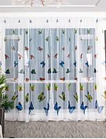 Недорогие -С цветами 1 панель Прозрачный Детская   Curtains