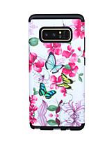 Недорогие -Кейс для Назначение SSamsung Galaxy Note 8 Защита от удара Кейс на заднюю панель Пейзаж / дерево / Цветы ПК
