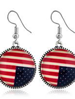 Недорогие -Жен. Серьги американский флаг Флаг Серьги Бижутерия Красный Назначение Повседневные 1шт