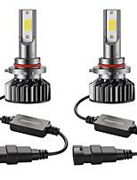 Недорогие -Мини-автомобиль светодиодная лампа головного света 9005 / hb3 привет / ло 72 Вт 10000lm 6000 К автомобильная фара