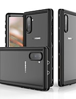 Недорогие -Кейс для Назначение SSamsung Galaxy Note 9 / Note 8 / Galaxy Note 10 Защита от удара / Защита от влаги Чехол Однотонный ТПУ