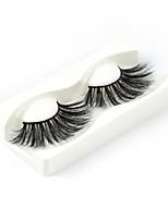 Недорогие -Наращивание ресниц одна пара ресниц накладные ресницы черные синтетические волокна наращивание ресниц макияж глаз w02