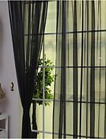 Недорогие -Modern 1 панель Прозрачный На открытом воздухе   Curtains