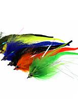 Недорогие -1 pcs Мухи Мухи Тонущие Bass Форель щука Морское рыболовство Ловля нахлыстом Металл