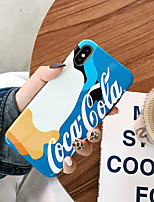 Недорогие -Кейс для Назначение Apple iPhone XS / iPhone XR / iPhone XS Max IMD / Ультратонкий / С узором Кейс на заднюю панель Слова / выражения / Мультипликация ТПУ