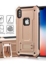 Недорогие -чехол для яблока iphone xs / iphone x / xs max / xr / iphone 8 plus / 7 / 7plus / iphone 6s / 6 / iphone 6s plus / 6 plus противоударный / с подставкой на задней панели однотонный / бронированный ПК