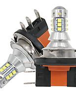 Недорогие -2 шт. H15 светодиодные лампы высокой мощности 6000 К белый 18 SMD 3030 для дневных ходовых огней противотуманные фары замена лампы 6000-6500 К чистый белый 12 В