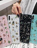 Недорогие -чехол для яблока iphone xs / iphone xr / iphone xs max / x / 6/7 / 6plus / 7plus полупрозрачный / задняя крышка с рисунком прозрачный / искусственная кожа