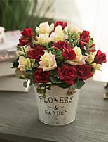 Недорогие -Искусственные Цветы 1 Филиал Классический европейский Пастораль Стиль Розы Букеты на стол
