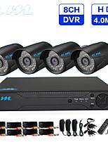 Недорогие -Ahd коаксиальный HD 8ch 4 миллиона 4.0mp оборудование для мониторинга 8ch инфракрасного ночного видения одна машина