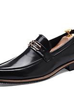 Недорогие -Муж. Комфортная обувь Полиуретан Лето Мокасины и Свитер Черный / Золотой / Вино