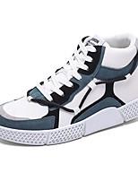 Недорогие -Муж. Комфортная обувь Полиуретан Весна лето / Наступила зима Спортивные / На каждый день Кеды Дышащий Черный / Розовый и белый / Белый / синий