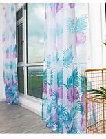 Недорогие -Листья 1 панель Прозрачный Спальня   Curtains