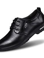 Недорогие -Муж. Официальная обувь Наппа Leather Весна лето / Наступила зима Деловые / Английский Туфли на шнуровке Дышащий Черный / Темно-коричневый