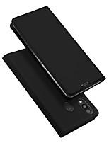 Недорогие -Кейс для Назначение SSamsung Galaxy Galaxy M20(2019) Бумажник для карт / со стендом / Флип Чехол Однотонный Кожа PU / ТПУ